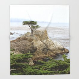 Lone Cypress  Of Monterey Throw Blanket