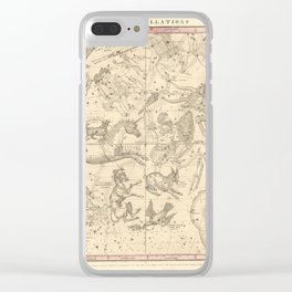 Burritt's Constellations (January, February, March) (1856) Clear iPhone Case