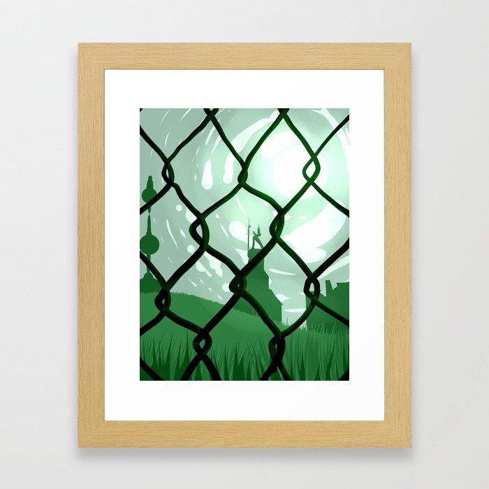 Across. Framed Art Print