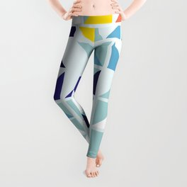 Sunny Geometric Regatta #pattern Leggings