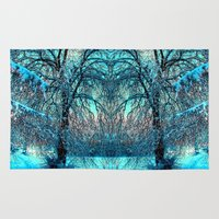 jack frost Area & Throw Rugs featuring Frost by haroulita
