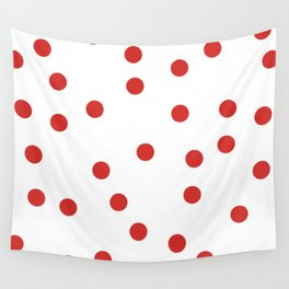 red spotted Wall Tapestry