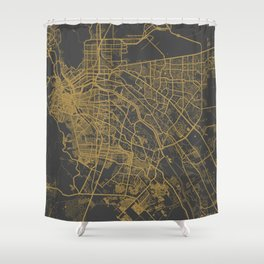 El Paso map ocher Shower Curtain