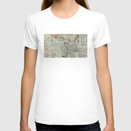 Vintage Map of The Roman Forum (1911) T-shirt