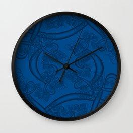 Lapis Blue Fractal Wall Clock