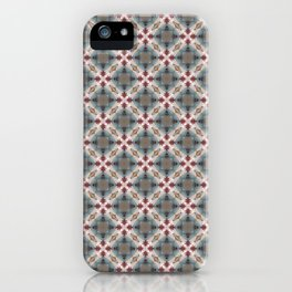 Blue & Red Geometric - Tiny Arrows Leaves iPhone Case