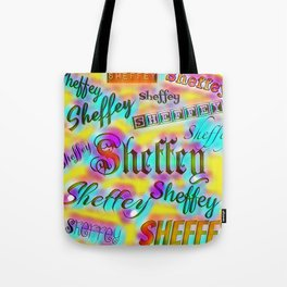 Sheffey Fonts - Yellow and Pink Rainbow 9642 Tote Bag