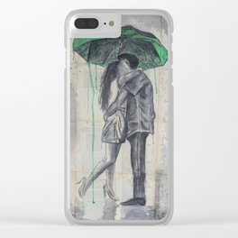 Lovers In The Rain Clear iPhone Case