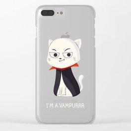 I'm a Vampurrr Clear iPhone Case