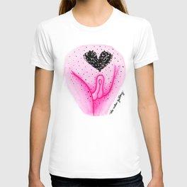 Pubic Heart - Neon Pink T-shirt