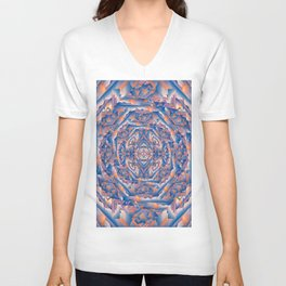 Carnival Fun House Mirror Fractured Unisex V-Neck