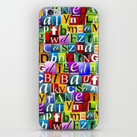 letters iPhone & iPod Skins featuring Letters by Ronda Bröc