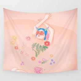 Flower Bath Wall Tapestry