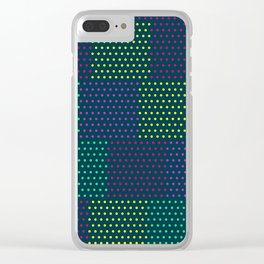 Polka Dot Patchwork Clear iPhone Case