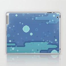 Blue Space Bubbles (8bit) Laptop & iPad Skin