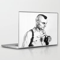 taxi driver Laptop & iPad Skins featuring Taxi driver Robert de niro by calibos