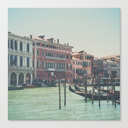looking along the Grand Canal in Venice Canvas Print