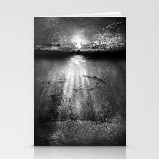 dolphins, civilization. Stationery Cards