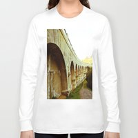 hollywood Long Sleeve T-shirts featuring Hollywood Reservoir by Kim Ramage
