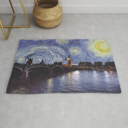 starry night over london Rug