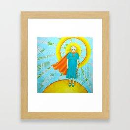 Super mabel Framed Art Print