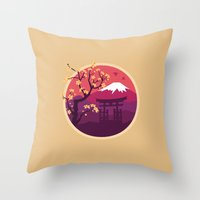 japan Throw Pillows featuring Japan by Marko Stupic