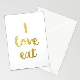 I love eat Golden Version Stationery Cards