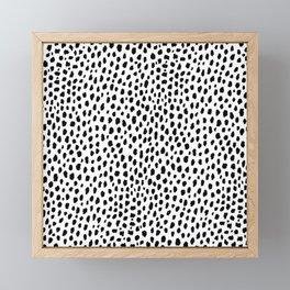 Dalmatian Spots (black/white) Framed Mini Art Print