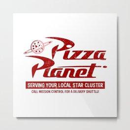 Pizza Planet Metal Print