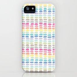 rainbow brushstrokes iPhone Case
