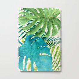 Rainforest Canopy Tropical Leaves Metal Print