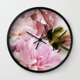 Peony in Summer Wall Clock