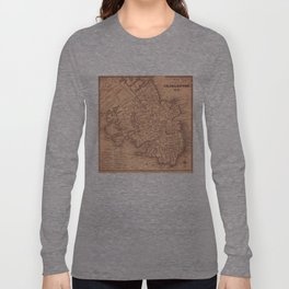 Vintage Map of Charleston South Carolina (1849) Long Sleeve T-shirt