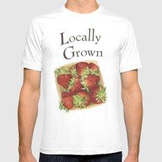 Strawberries Mens Fitted Tee White MEDIUM