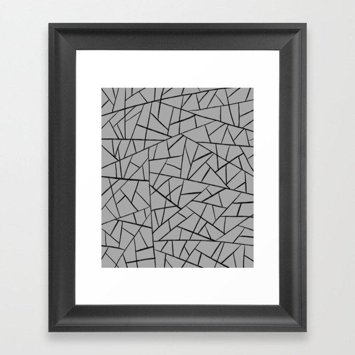 Shattered glass #10 Framed Art Print