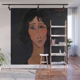 "Amedeo Modigliani ""Young Girl Wearing a Rose"" Wall Mural"