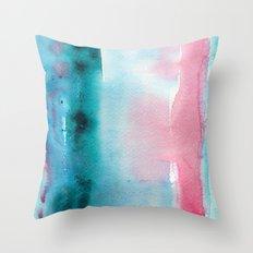Turquoise love Throw Pillow