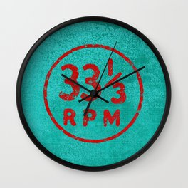 33 & a third RPM Circle Wall Clock