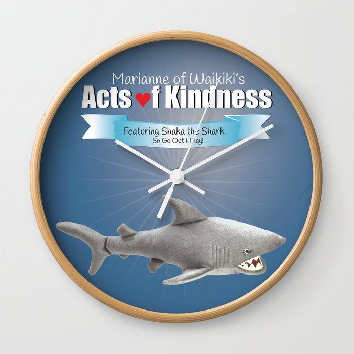 Shaka the Shark Wall Clock