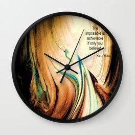 Tint Blot - Flaming Stalagmite Wall Clock