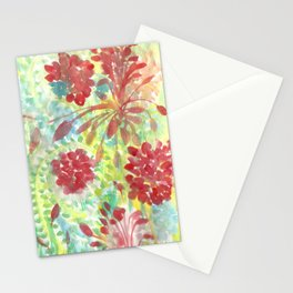 Ixora and Ferns - Watercolor Stationery Cards