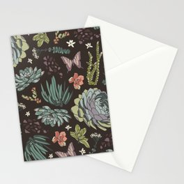 Cacti by Night Stationery Cards