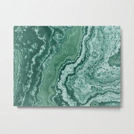 textured pattern green marble background patrón de textura de fondo de mármol verde Metal Print