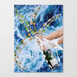 Champagne Sea Canvas Print