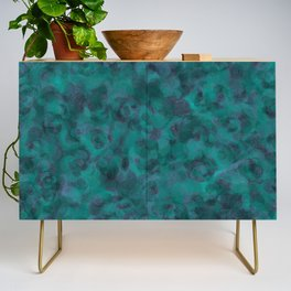Teal and Purple Abstract Texture Credenza