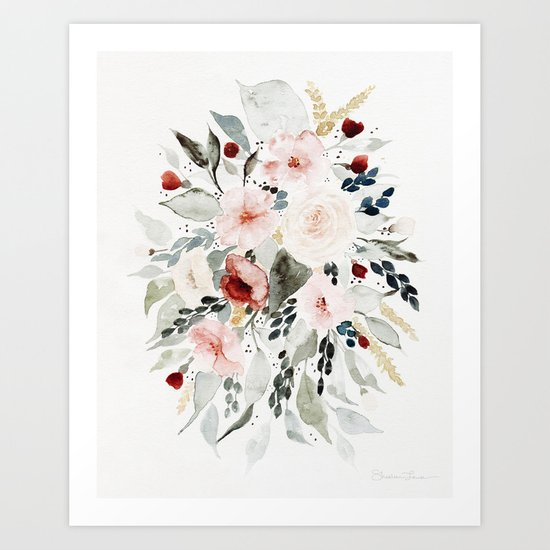Loose Watercolor Bouquet by shealeenlouise