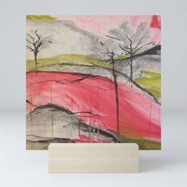 Pink Landscape. Color of Japan. Original Painting by Jodi Tomer. Abstract Artwork. Mini Art Print