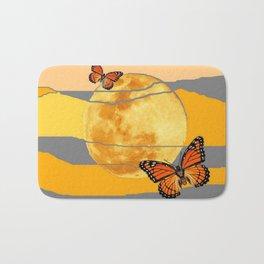 MOON & MONARCH BUTTERFLIES DESERT SKY ABSTRACT ART Bath Mat