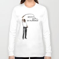 obama Long Sleeve T-shirts featuring Obama by Valentina