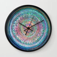 Pink and Turquoise Mandala Wall Clock